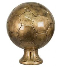 "10 1/2"" Antique Gold Soccer Ball Resin"
