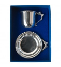 Bow Handle Porringer & Cup Gift Set
