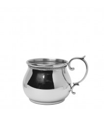 Bulged Cup with Scroll Handle and Beading