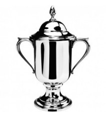 """Large Loving Cup with Lid, 12 ¾"""" tall"""