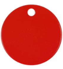 """1.5"""" ROUND RED INDUST.TAG"""