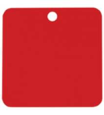 1.5X1.5 SQR RED IND.TAG