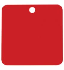 """2""""X 2"""" SQR RED IND.TAG"""