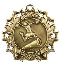 "2 1/4"" Cheerleading Ten Star Medal"