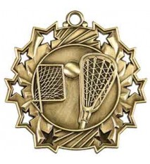 "2 1/4"" Lacrosse Ten Star Medal"