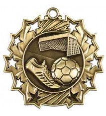 "2 1/4"" Soccer Ten Star Medal"
