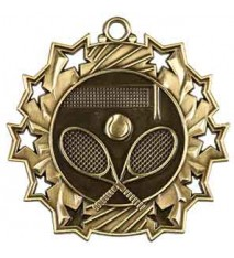 "2 1/4"" Tennis Ten Star Medal"