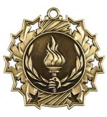 "2 1/4"" Victory Ten Star Medal"