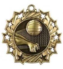 "2 1/4"" Volleyball Ten Star Medal"