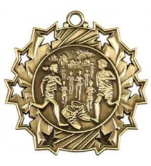 "2 1/4"" Cross Country Ten Star Medal"
