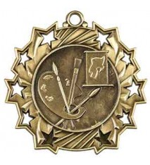 "2 1/4"" Art Ten Star Medal"
