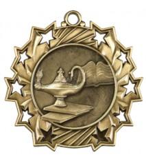 """2 1/4"""" Graduate Ten Star Medal"""