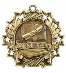 "2 1/4"" Honor Roll Ten Star Medal"