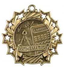 "2 1/4"" Math Ten Star Medal"