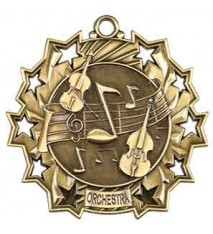 "2 1/4"" Orchestra Ten Star Medal"