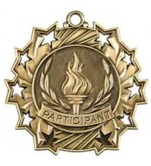 "2 1/4"" Participant Ten Star Medal"