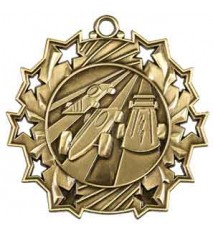 "2 1/4"" Pinewood Derby Ten Star Medal"