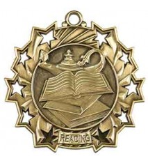 "2 1/4"" Reading Ten Star Medal"