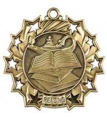 "2 1/4"" Reading Ten Star Medal"