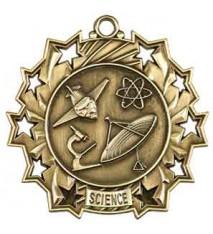 """2 1/4"""" Science Ten Star Medal"""