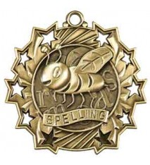 "2 1/4"" Spelling Ten Star Medal"