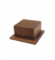"Medium Wooden Base, 4 1/8"""" tall"