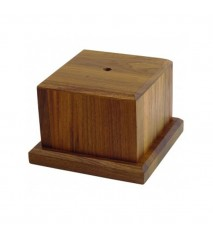 """Large Wooden Base, 4 5/8"""""""" tall"""