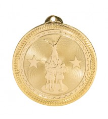 "2"" Competitive Cheer Laserable BriteLazer Medal"