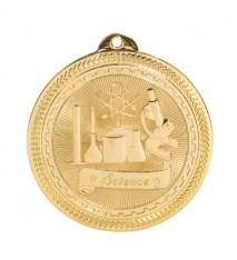 "2"" Science Laserable BriteLazer Medal"