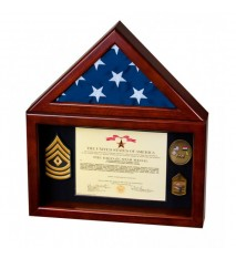 Flag Case with Large Shadow Box - Without Base