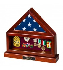 Combination Flag Case/Shadow Box with Base