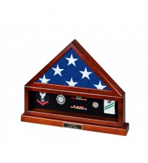 Large Combination Flag Case/Shadow Box with Base