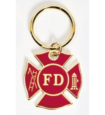 RED FIREMAN'S CROSS KEY