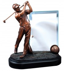 "GOLFER 9"" W/ GLASS 4""X6"""