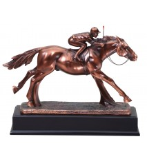 RESIN HORSE AND JOCKEY