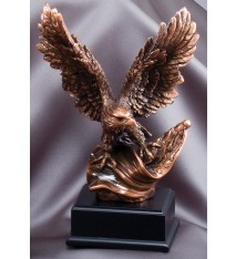 SMALL BRONZE EAGLE WITH
