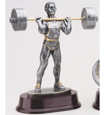 Male Weightlifting Statue