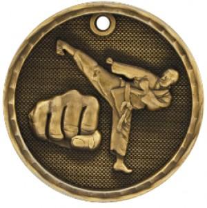 """2"""" 3D Martial Arts Medal"""