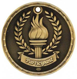 """2"""" 3D Participant Medal"""