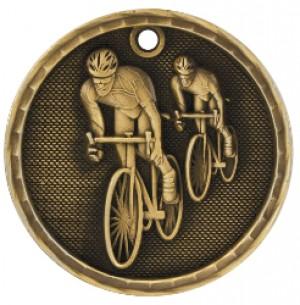 "2"" 3D Bicycling Medal"