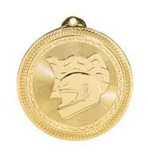 "2"" Racing Laserable BriteLazer Medal"