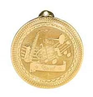 "2"" Band Laserable BriteLazer Medal"
