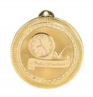 "2"" Perfect Attendance Laserable BriteLazer Medal"