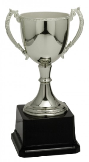 """8 3/4"""" Silver Completed Zinc Cup Trophy"""