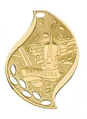 "2 1/4"" Orchestra Laserable Flame Medal"