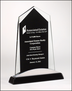 Apex Series Black Glass Award