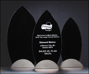 Flame Series Black Glass Award