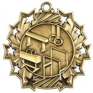 """2 1/4"""" Gymnastics Ten Star Medal"""
