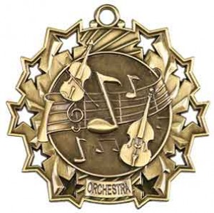 "2 1/4"" Orchestra Ten Star Medal"