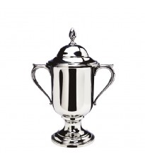 """Small Loving Cup with Lid, 8 ½"""" tall"""